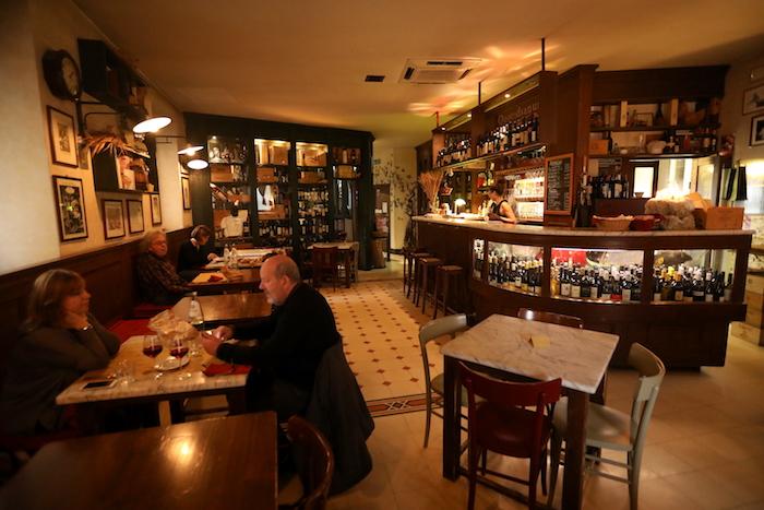 interno la bottega del vino,locale caratteristico di Perugia